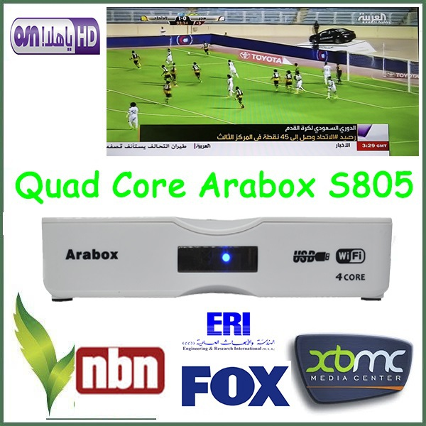 Arabic IPTV Box Android TV Receiver With More Than 450 TV Channel Support USB WiFi(China (Mainland))