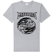 metallica rock band posters printing high quality modal cotton T-shirt casual street style