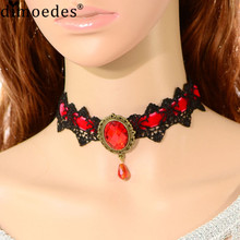 AG 17 Fairy Store 2016 Hot Selling Women Lace Beads Choker Steampunk Style Gothic Collar Necklace Gift - Fantasy store