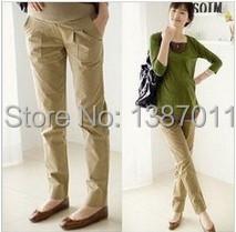 Barato monos de ventas para embarazada ropa mujer más tamaño maternidad ocasional pantalones / pantalones alta calidad Womens'S ropa(China (Mainland))