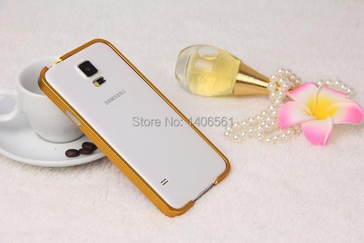 1pc Ultrathin Aviation No Screws Frame S5 Phone Cover Ultra Thin Metal Luxury Aluminum Bumper Case For Samsung Galaxy S5 i9600