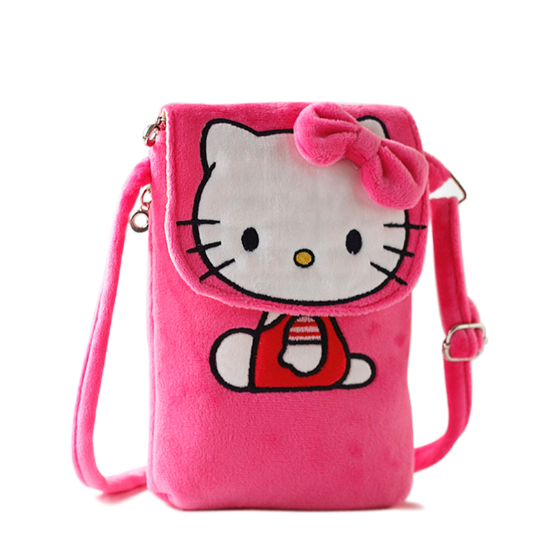 New Cartoon Hello Kitty Messenger Bag Women Mini Shoulder Bags Female Plush Crossbody Bag For Girls Children Sac A Main B066(China (Mainland))