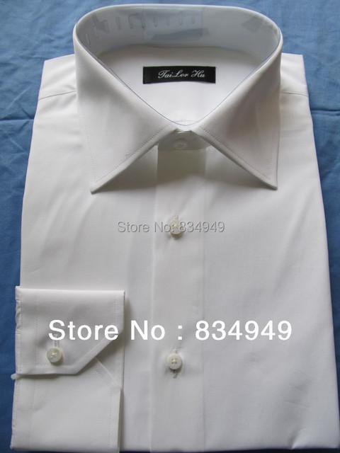Белые рубашки для мужчин на заказ с длинным рукавом белая рубашка мужчины, 100% хлопчатобумажную ...