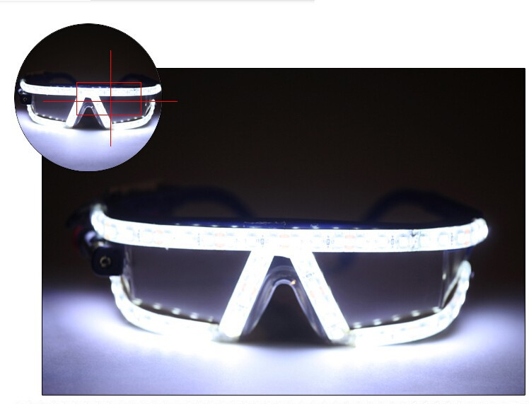 Free shipping led glasses 5 color laser glasses for love wedding sex woman glasses scream costume led glasses for parties(China (Mainland))