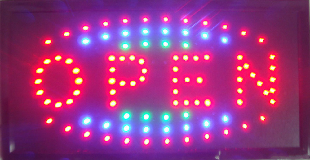 top selling busniss store billboard/led Electronic sign/led neon sign 25*48CM(China (Mainland))