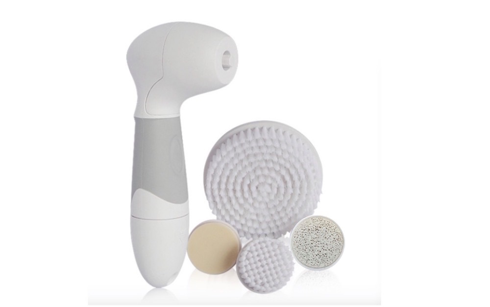 Skin Beauty Care 5 in1 Rotary Electric Wash Face Spin Brush Facial Pore Cleaner Body Cleaning feet care massager tool waterproof(China (Mainland))