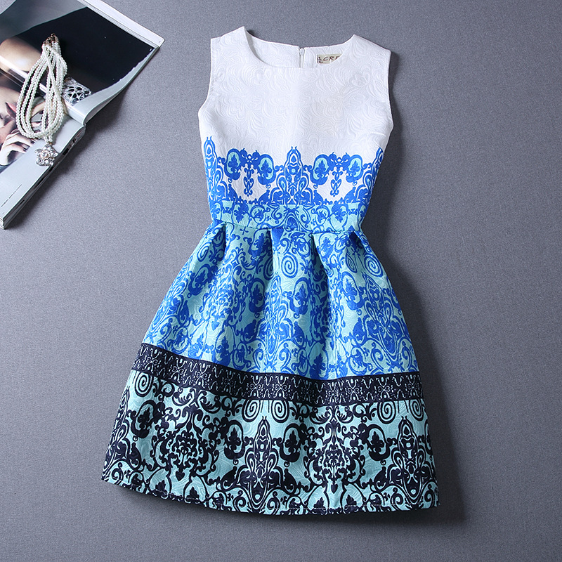 2016 summer girls teens dresses girls cotton casual for Dresses for teenagers for weddings