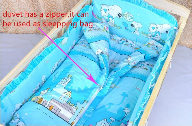 Фотография Promotion! 4pcs Crib Bedding Sets,Kids Accessory Newborn Baby Bed Set,(bumper+matress+pillow+duvet )