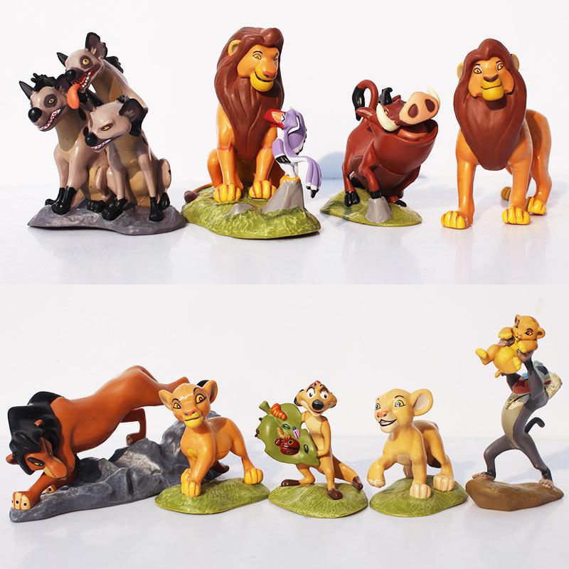 Здесь можно купить  5Sets/lot 45Pcs The Lion King Simba Nala Timon Model Figure PVC Action Figures Classic Toys Best Christmas Gifts Free Shipping  Игрушки и Хобби