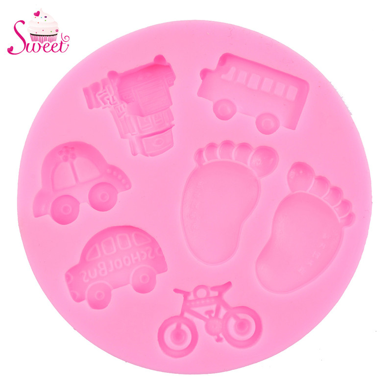 Fondant Chocolate Mould Candle Soap Molds Children Birthday Cake Decorating Tools Baby Toy 3D Liquid Silicone Molds(China (Mainland))