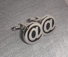 Free shipping  Metal black soft enamel male shirt sleeve button french nail sleeve(China (Mainland))
