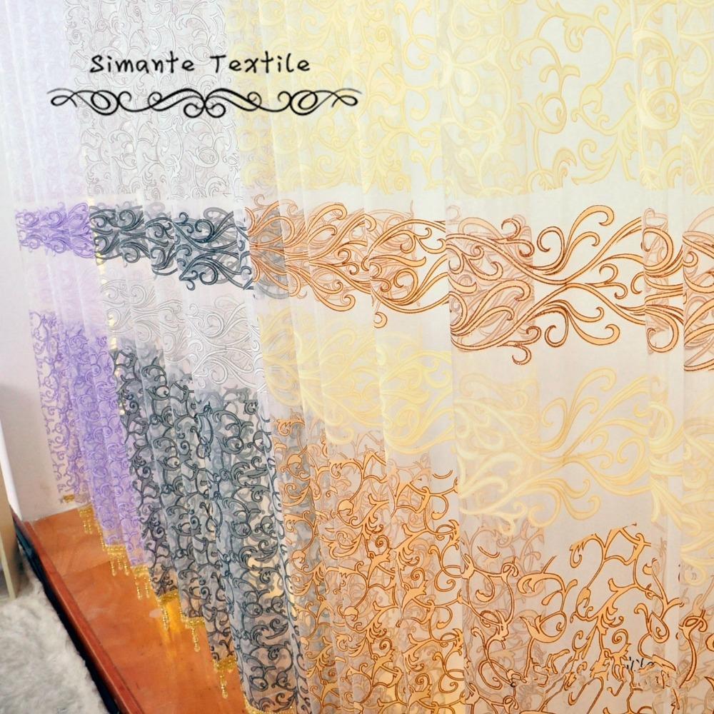 Free shipping design custom made european style sheer curtains home(China (Mainland))