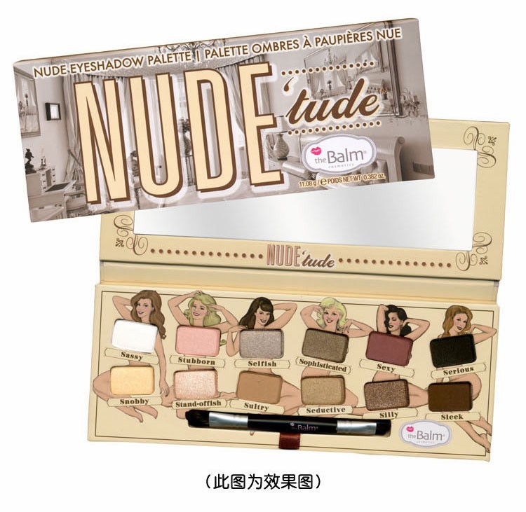 2015 new style Balm thebalm Nude tude 12 Colors Nude Makeup Eyeshadow Palette brand (1pcs/lot)(China (Mainland))