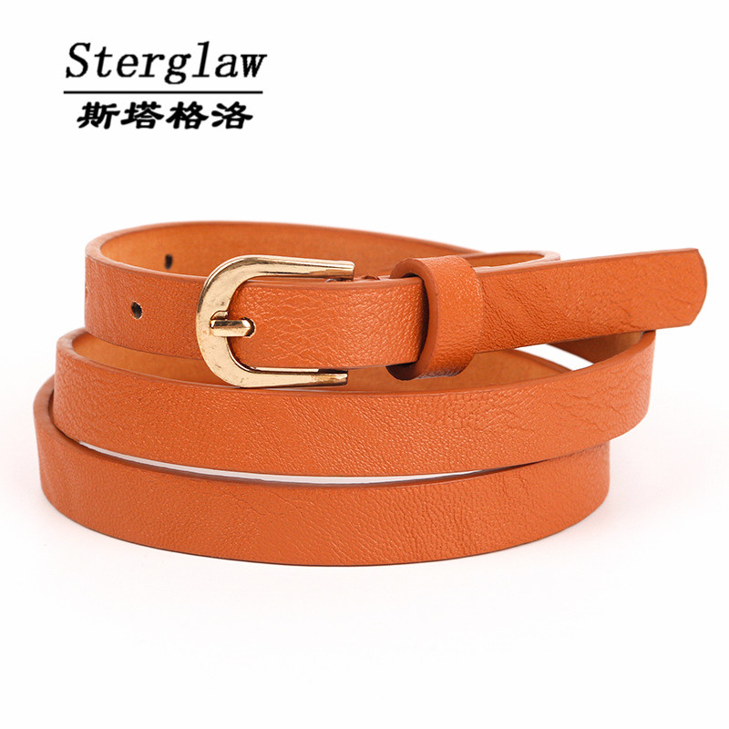 NEW brown PU childrens belts 2017 children's waist belts for pants trousers boy's jeans belt metal buckle pin sterglaw A011(China (Mainland))