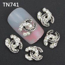 10pcs 3d nail art decoration alloy nail gel tips glitter rhinestone sticker manicure brand nails tools jewelry