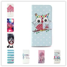 For iPhone 6 6s 4.7″ Case Wallet Leather Case Mobile Phone Bags Lovely Owls Flower Scenery Skin with Card Holder