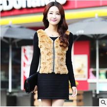 2015 new women's spring autumn winter long Fake two piece slim hip dress women Rabbit hair sweaters (China (Mainland))