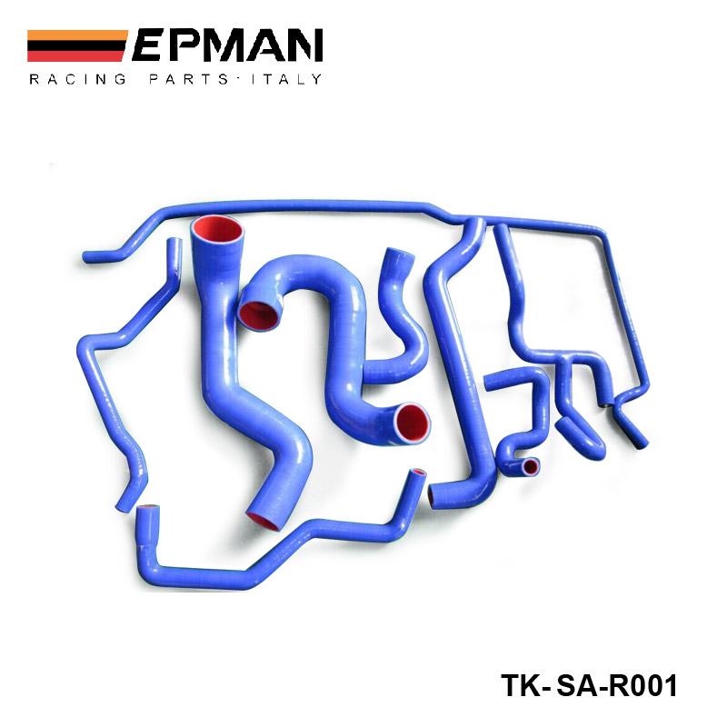 Здесь можно купить  9PCS Original Logo 100% Silicon Silicone Coolant Hose Kit For Saab 9-5 2.3T 2003+ Blue SA-R001  Автомобили и Мотоциклы