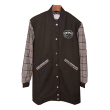 Youpop KPOP Hoodies Of BTS K-POP 2016 Hot Fashion Solid Cotton Baseball Coat Long Sleeve Sport Sweatshirts JCF046(China (Mainland))