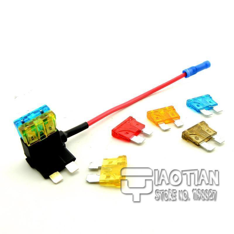 Плавкий предохранитель SONTEEN 1 ATM Auto Medium ATM Fuse Tap Add on Dual Circuit Adapter