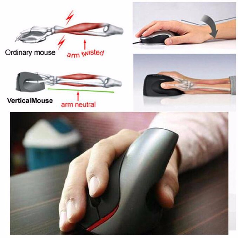 2.4Ghz Superior Ergonomic Wireless Mause Optical 4000 DPI Vertical Gaming Gamer Mouse with USB Receiver Laptop Computer Mice