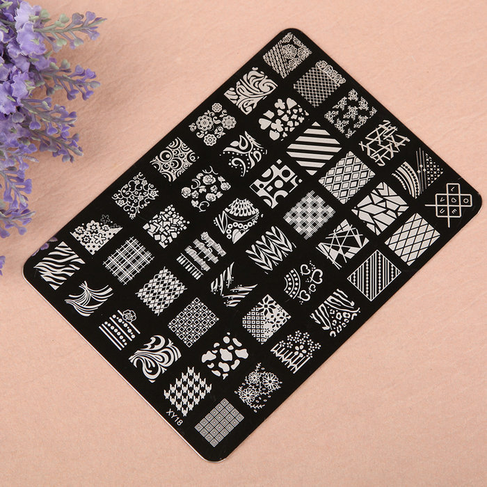 Flower Design Polish Stamping Manicure Image Nail Art Templates Image Stamp Plates(China (Mainland))