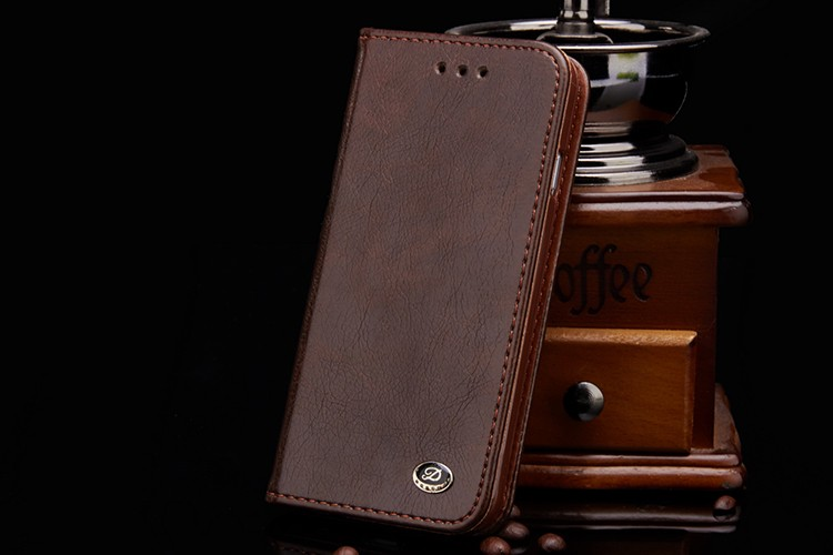 For Samsung Galaxy S7 edge Wallet Cover Case for Samsung Galaxy S5 S6 S7 Luxury Business Mens PU Leather Phone Bags Cases