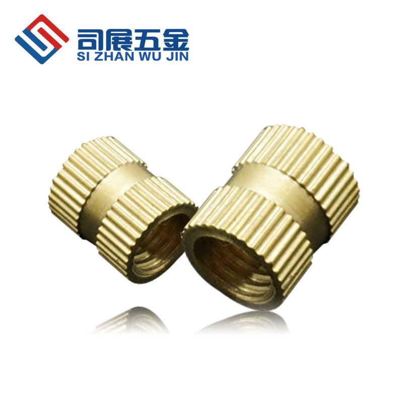 Manufacturer promotions copper insert molding pillars embedded nut knurled M4 outside diameter of 6 full length specifications<br><br>Aliexpress