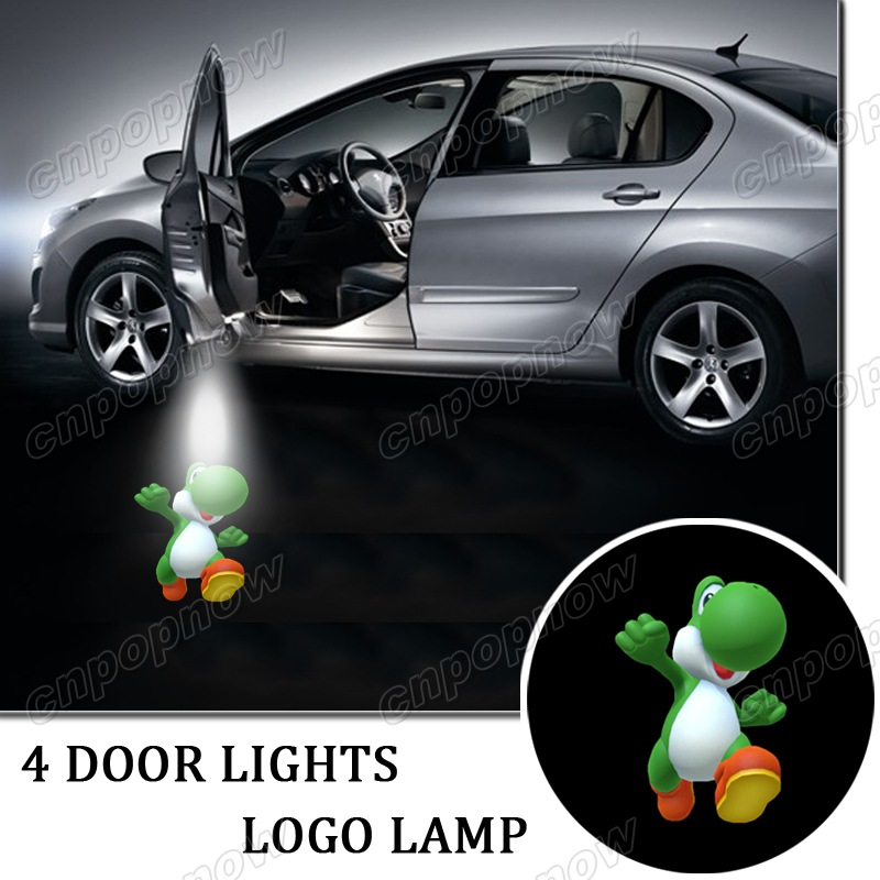 4 x Gobo Car LED Laser Logo Lamp Door Welcome Ghost Shadow Projector Lights Symbol for Yoshi Super Mario #5962*4(China (Mainland))