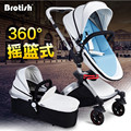 BROTISH 360 Rotating High Landscape Shock Resistant Folding Baby Stroller