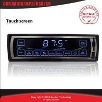 Hot sale  Automotive touch screen auto Car radios  player with FM  stations front AUX-in support MP3 USB SD MMC card
