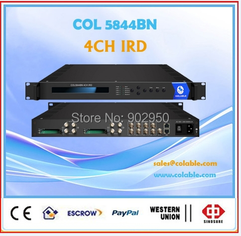 satellite receiver descrambler for Conax,Iredto,Viaccess CAM ,4CH decoder for encrypted channels COL5844BN(China (Mainland))