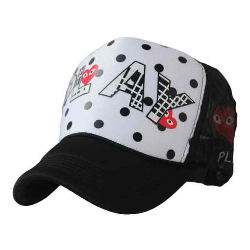 Red hearts dot grid high top Hip-hop cap sport baseball cap universal season 3color 1pcs brand new arrive(China (Mainland))