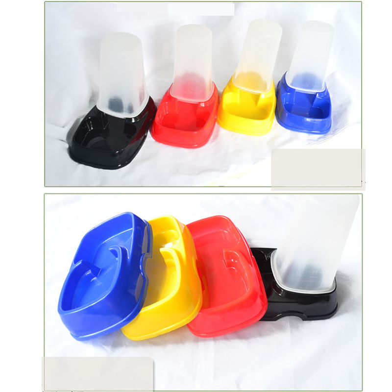 Pet Dog Cat Plastic Automatic Water Food Feeder Fountain Bowl Dispenser(China (Mainland))
