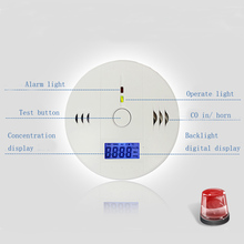 Wireless CO Carbon Monoxide Detector Alarm High Sensitive Gas detector Digital Backlight LCD Alarm Sensors Home Security #4(China (Mainland))