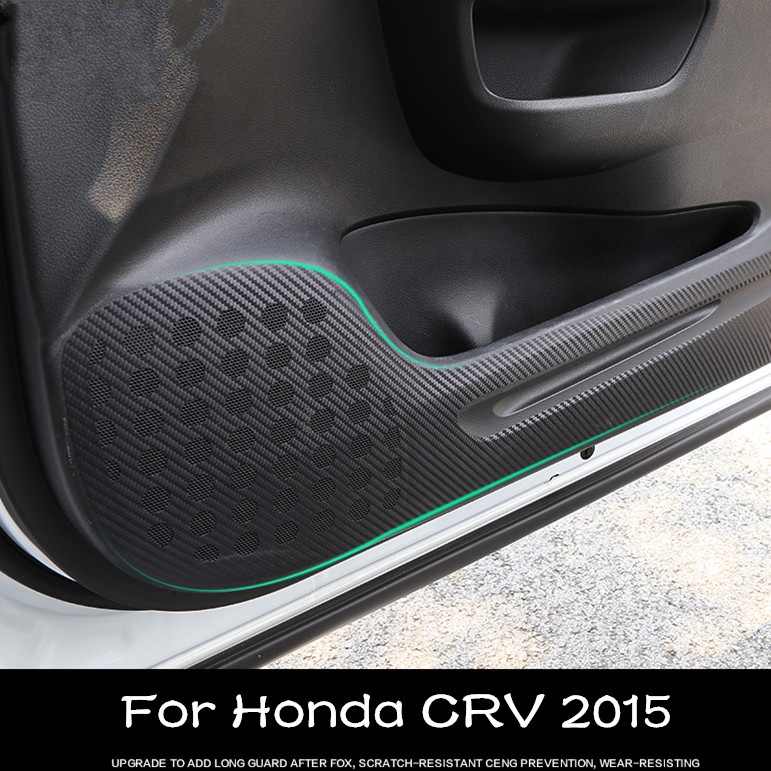 2016 New 4PCS High Quality Carbon Fibre Car Door Anti kick Protective Sticker decoration For Honda CRV 2015 Sticker Car Modify(China (Mainland))