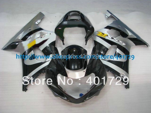 Fairings kit for Suzuki GXS-R600 750 GSXR600 R750 2001 2002 2003 Motorcycle Parts,silver white/black bodywork set(China (Mainland))