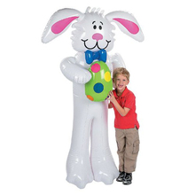 160 CM Inflatable Toys For Kids Easter Party Decoration White Rabbit Children Birthday Party Favors Indoors/ outdoors Game Props(China (Mainland))