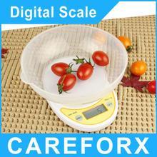 5 kg / 1 g 5000 g Digital portátil de cocina electrónica alimentación paquete pesar Balance con envío gratis venta al por mayor