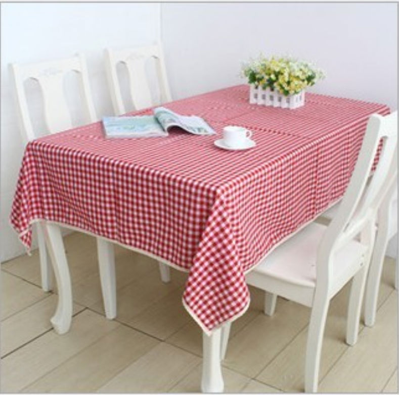 Linen Tableclothes Tablecloth On The Table Dining Table Decoration Wedding Linen Kitchen Red And White Striped(China (Mainland))