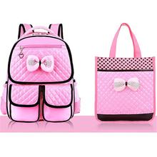 New Fashion Children School Bags Girls High Quality PU Children Backpack School Backpacks Child Book Bag 2016 Free Shipping Z332(China (Mainland))