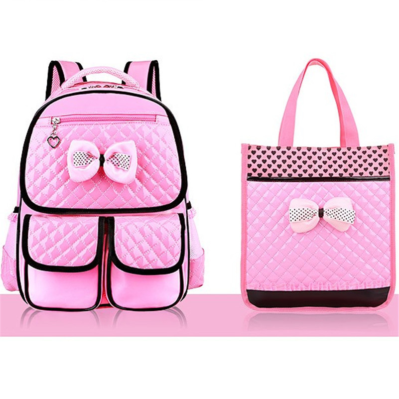 New Fashion Children School Bags Girls High Quality Pu
