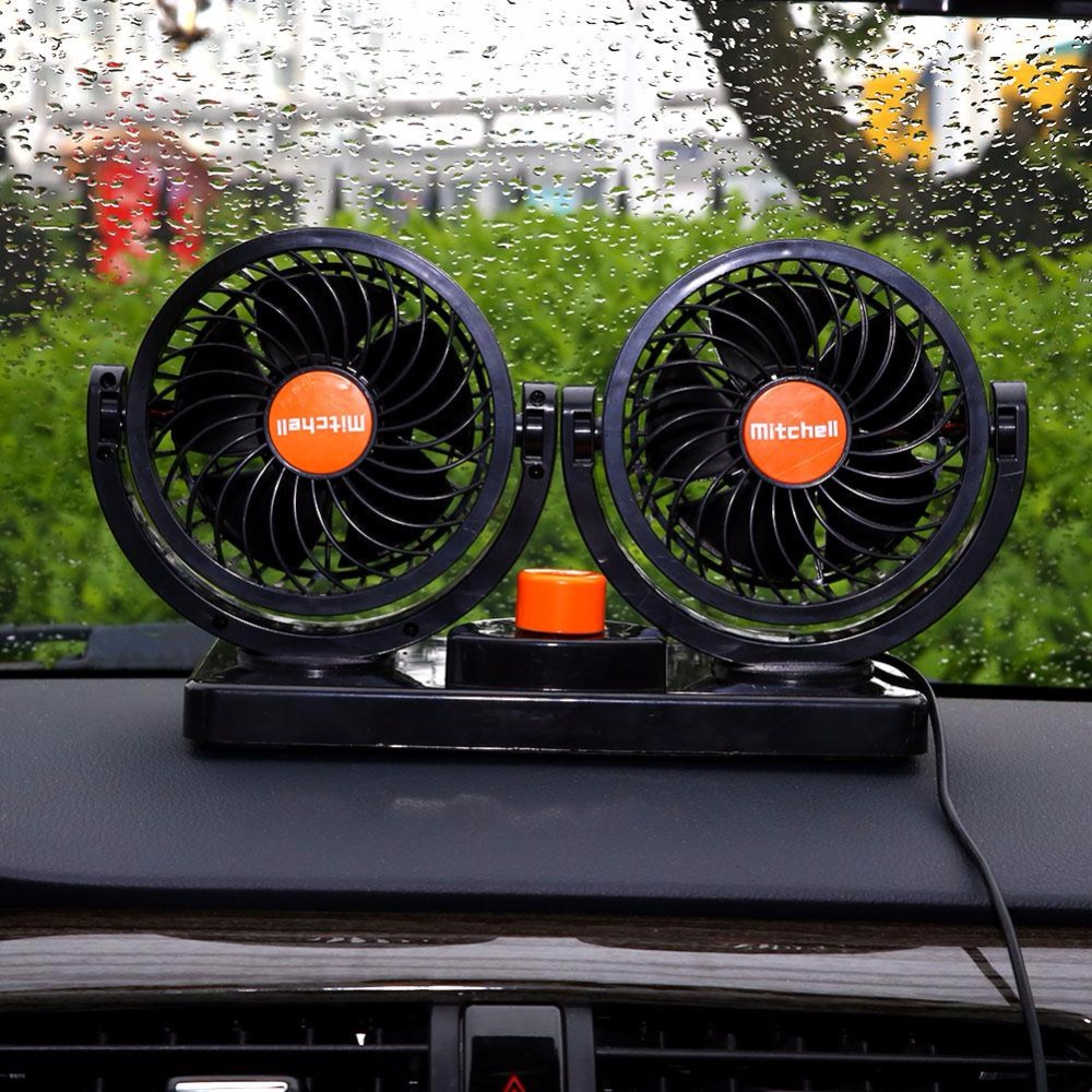 Car Styling Mini Portable 24V 360 Degree Rotation Auto Car Vehicle Truck Cooling Air Fan All-Round Adjustable Cooler(China (Mainland))
