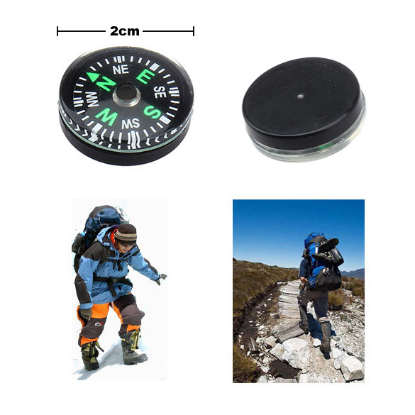 12 Pieces 20mm Mini Button Compasses Portable Handheld Outdoor Sports Travel Hiking Compass Wholesale BHU2(China (Mainland))