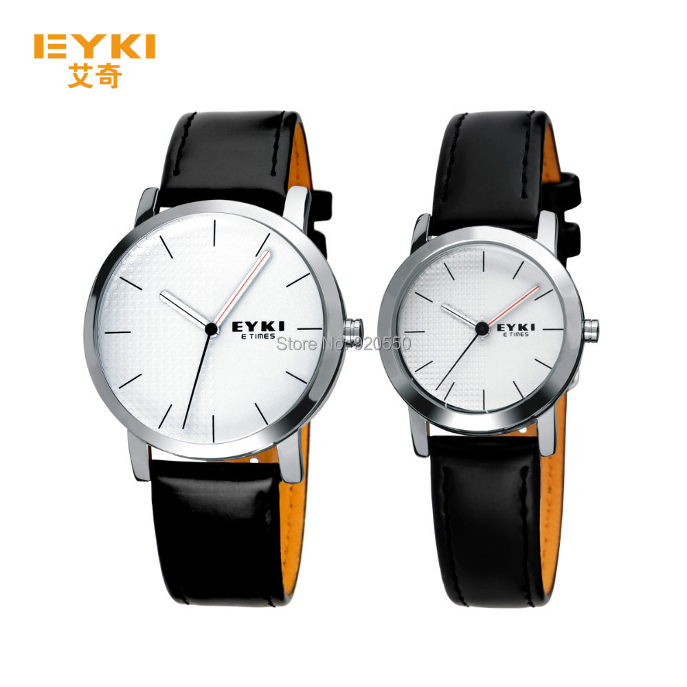 2015 Luxury Business Watch stainless Men's EYKI Lovers' leather Brand watch Relogio Feminino Quartz Wristwatch - Fashion Boutique-No.1 store