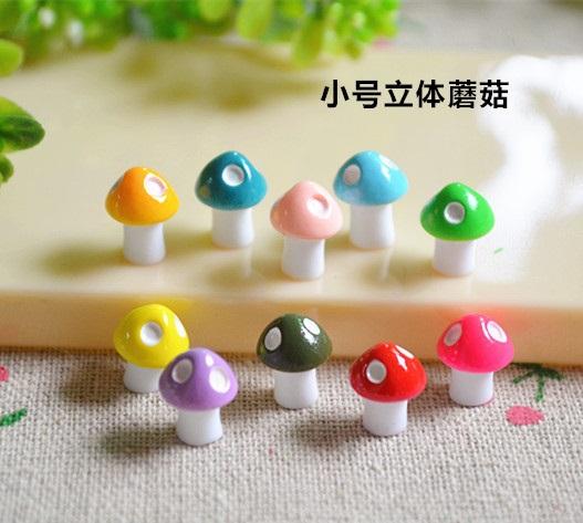 100PCS Cute mixed Multicolour Kawaii 3D small Mushroom Resin Cabochon, for Scrapbooking Embellishments, Crafts, Jewellery,  DIY<br><br>Aliexpress