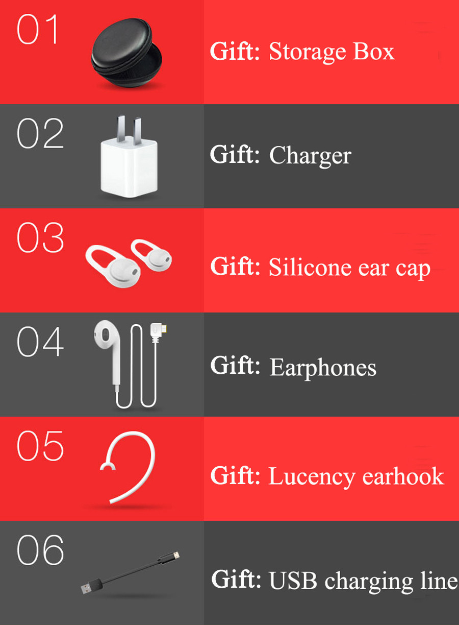 Moloke D8 Wireless Bluetooth Earphone 4.1 High Capacity Battery Bluetooth Headset Hands-free Earbud in Car for Phone