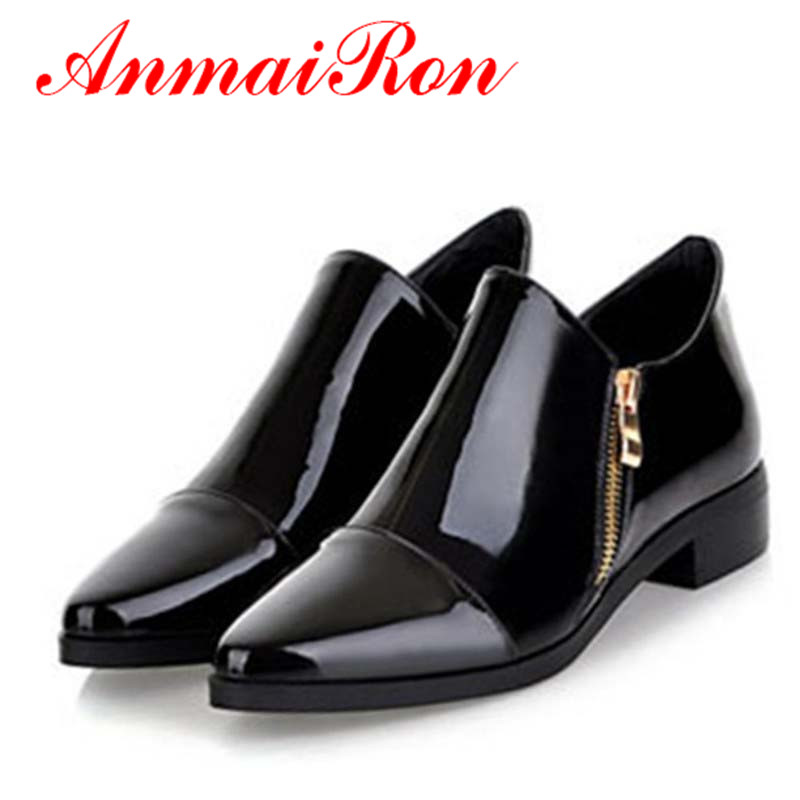 ANMAIRON Shoes fashion ladies 2014 flats Oxfords women shoes woman casual colors Pointed oversized 34-43 - Savvy store