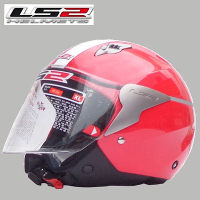 Free shipping genuine LS2 OF559 motorcycle helmet half helmet male and female models / Red / Flashing(China (Mainland))