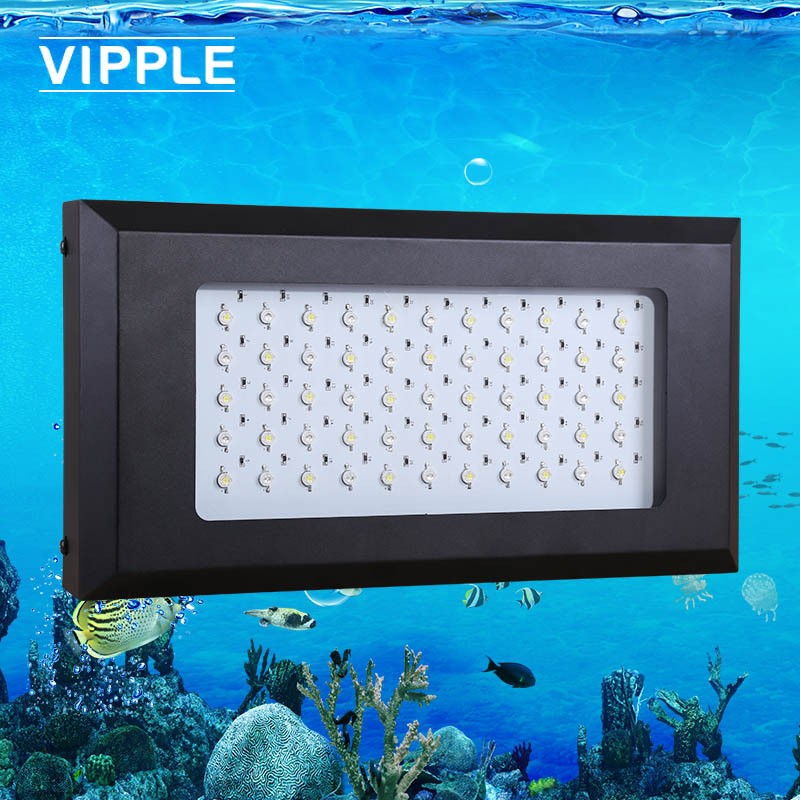 Factory direct promotion dimmable led aquarium light 165W(55x3W=165W),moonlight design,Aquarium Lamp for all type water(China (Mainland))
